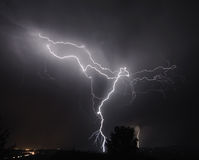 I-5 Thunderstorm In the Mid Willamette Valley Stock Photography
