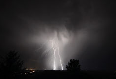 I-5 Thunderstorm In the Mid Willamette Valley Stock Photos