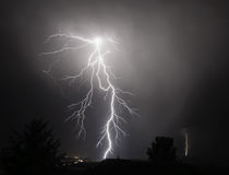 I-5 Thunderstorm In the Mid Willamette Valley Royalty Free Stock Photo