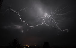 I-5 Thunderstorm In the Mid Willamette Valley Royalty Free Stock Photos