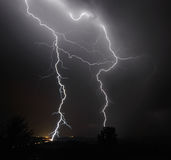 I-5 Thunderstorm In the Mid Willamette Valley Stock Images
