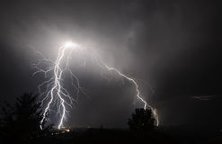 I-5 Thunderstorm In the Mid Willamette Valley Royalty Free Stock Images