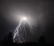 I-5 Thunderstorm In the Mid Willamette Valley Royalty Free Stock Photography