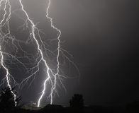I-5 Thunderstorm In the Mid Willamette Valley Stock Image