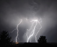 I-5 Thunderstorm In the Mid Willamette Valley Royalty Free Stock Image