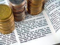 I Timothy-6:10 Liebe von Geld 1 Stockfotografie