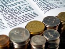 I Timothy-6:10 Liebe von Geld 3 Stockfotos