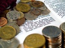 I Timothy-6:10 Liebe von Geld 4 Lizenzfreie Stockbilder
