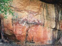 Aboriginal Culture in Kakadu National park stock image