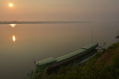 In the morning at Mekong River Stock Image