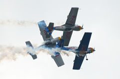 I tori di volo - Mazury Airshow - Polonia Fotografia Stock