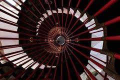 In i tornet & x28en; spiral staircase& x29; Fotografering för Bildbyråer