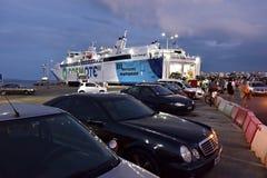 I traghetti in Rafina harbor, Attica, Grecia Immagini Stock Libere da Diritti