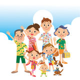 I travel in good friend families Stock Photo