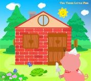I tre piccoli maiali 8: i mattoni alloggiano finito illustrazione di stock
