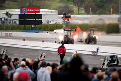 I tre-quarti anteriori Massey impostano il record superiore di Fueler Fotografie Stock