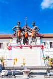 I tre re Monument, Tailandia Fotografia Stock Libera da Diritti