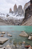 I tre Torres in Parque Nacional Torres del Paine, Cile Immagini Stock