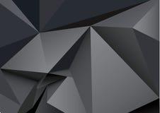I triangoli astratti spaziano il poli fondo poligonale basso di vettore Fotografia Stock