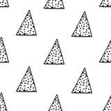 I triangoli modellano con gli scarabocchi dell'inchiostro Fotografia Stock Libera da Diritti
