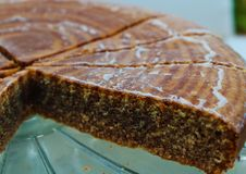 Zebrakuchen is called asi by the form that has similar to the stripes of a zebra stock image