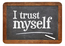 I trust myself - self confidence concept Stock Photo