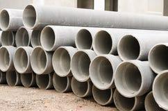 I tubi del cemento amianto Fotografia Stock Libera da Diritti