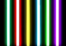 I tubi dell'accensione al neon hanno sigillato il vetro immagine stock