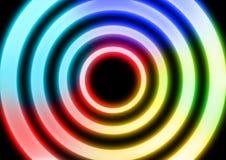 I tubi dell'accensione al neon hanno sigillato il vetro fotografia stock