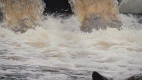 I tubi di scarico, inquinamento ambientale Protezione di inondazione della rete fognaria Protezione dell'ambiente stock footage