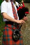 I tubi scozzesi si chiudono in su Fotografie Stock Libere da Diritti