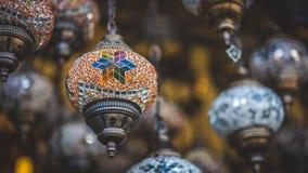 I turco d'annata decorano la foto della plafoniera immagine stock libera da diritti