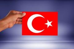 I turco diminuiscono, la Turchia, progettazione della bandiera Fotografia Stock