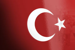 I turco diminuiscono, la Turchia, progettazione della bandiera Fotografie Stock Libere da Diritti