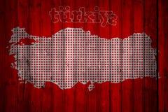 I turco diminuiscono, la Turchia, progettazione della bandiera Immagini Stock