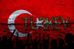 I turco diminuiscono, la Turchia, progettazione della bandiera Immagine Stock