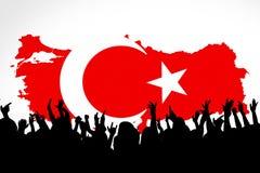 I turco diminuiscono, la Turchia, progettazione della bandiera Fotografia Stock Libera da Diritti