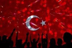 I turco diminuiscono, la Turchia, progettazione della bandiera Fotografie Stock
