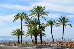 I turisti che enjoiying la loro vacanza sulla spiaggia Fotografie Stock Libere da Diritti