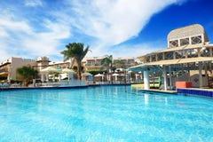 I turisti sono sulla vacanza all'hotel popolare Immagine Stock Libera da Diritti