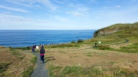 I turisti visitano la formazione naturale del paesaggio in Nuova Zelanda fotografia stock libera da diritti