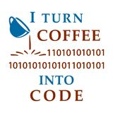 I turn coffee into code Royalty Free Stock Photography