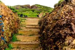 I Twin Peaks San Francisco, CA arkivbild