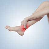 I twisted my ankle. Royalty Free Stock Photos