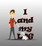 I und mein Hund stock abbildung