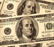 I USD 100 di Stati Uniti di fatture del dollaro si chiudono in su Immagini Stock