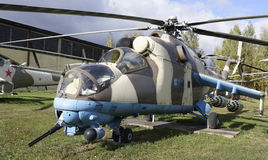 Мi-24V- Combat transport helicopter(1972). Stock Photography