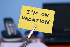 I am on vacation Stock Image