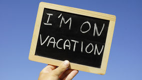 I am on vacation Royalty Free Stock Photo