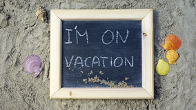 I am on vacation Royalty Free Stock Photography